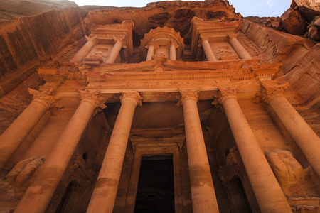 nabatean: Al Khazneh or The Treasury at Petra, Jordan