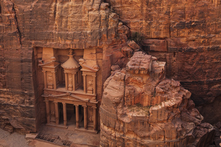 khazneh: Al Khazneh or The Treasury at Petra. Jordan. Stock Photo