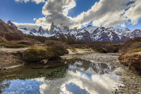 fitz: Majestic view of Mount Fitz Roy. Patagonia. Argentina.