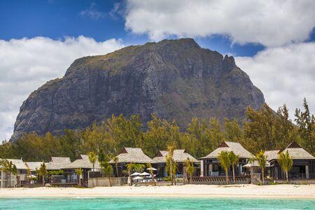 mauritius: Le Morne mountain on the south shore of Mauritius