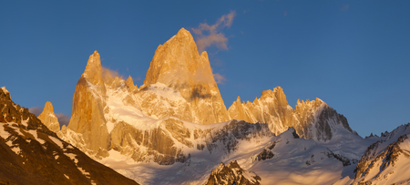 roy: Beautiful landscape with Fitz Roy. Patagonia. Argentina.