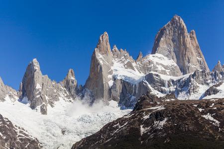 los glaciares: Beautiful nature landscape with Mt. Fitz Roy. Los Glaciares National Park, Patagonia, Argentina. Stock Photo