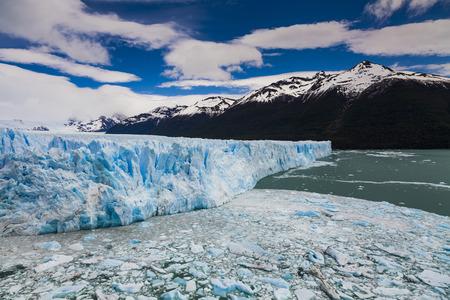 moreno: Blue ice Perito Moreno Glacier. Patagonia. Argentina.