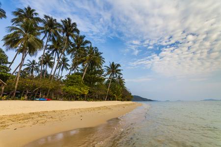 chang: Sandy beach of a tropical island. Koh Chang. Thailand.