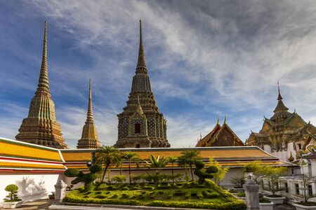 templo: Templo del Buda reclinado, Wat Pho, Bangkok, Tailandia