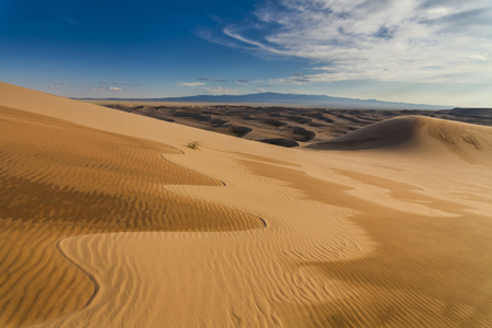 gobi: Amazing abstract patterns on the sand of the Gobi desert. Mongolia.