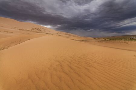 gobi: Beautiful view of the dunes of the Gobi Desert. Mongolia.