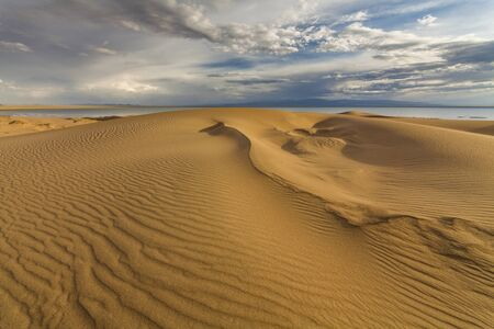 gobi: Beautiful views of the desert landscape. Gobi Desert. Mongolia.