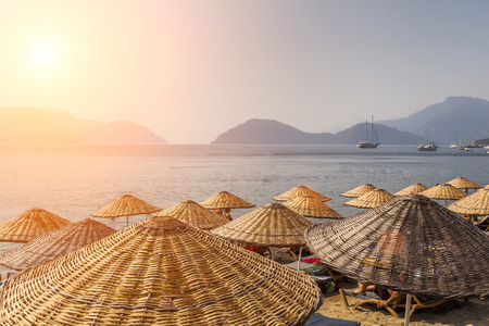 Picturesque view of the sea and mountain on the shore. Marmaris. Turkey Stock Photo