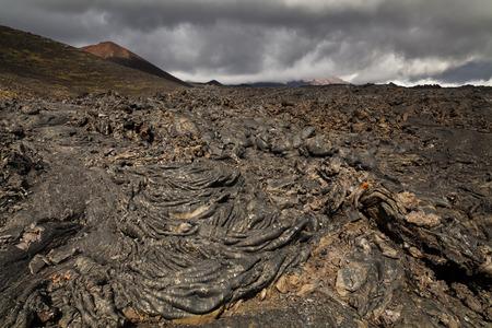 kamchatka: Dramatic views of the volcanic landscape. Kamchatka Peninsula.