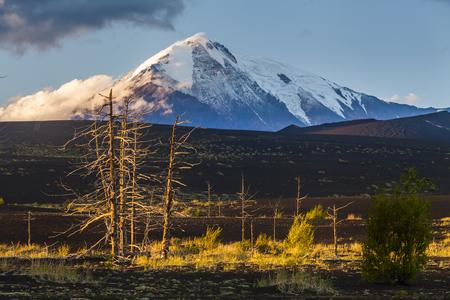 kamchatka: Nice view of the volcanoes of the Kamchatka Peninsula Stock Photo