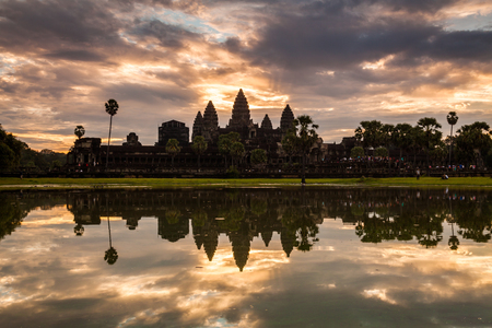 siem: Sunrise at Angkor Wat. Cambodia, Siem Reap Stock Photo