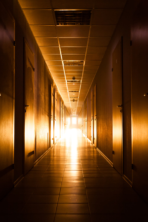 Corridor with light at the end