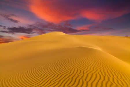 Beautiful sand dunes in the Sahara desert Stock Photo