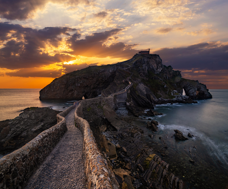 San Juan de Gaztelugatxe, Basque Country, Spain Stock Photo