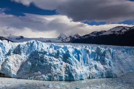 Picturesque mountain landscape with Perito Moreno Glacier. Patag