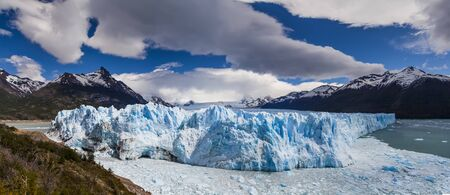 Picturesque mountain landscape with Perito Moreno Glacier. Patagonia. Argentina.