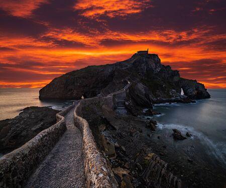 San Juan de Gaztelugatxe, Basque Country, Spain Stok Fotoğraf