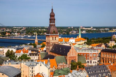View of Old Riga from the St. Peters Church, Riga, Latvia