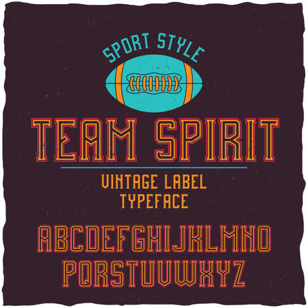 major league: Serif font in the retro style of college. Good to use in any sport theme artworks.