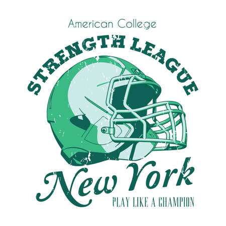 New York Strength League Poster with words play like a champion vector illustration