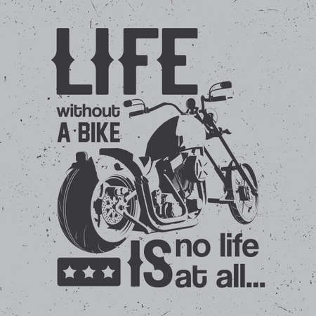 British motorcycle poster with bike and words life without bike is no life.