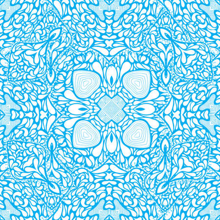 Seamless Background Pattern with many details and lacy arabesque designs vector illustration Illustration
