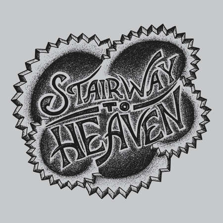 Creative Logo Design Poster with words Stairway to Heaven vector illustration Illustration