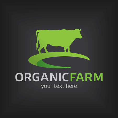 Organic Farm Design Template Poster with words your text here vector illustration