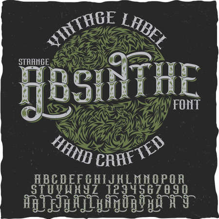 finest: Absinthe hand crafted poster to use in any vintage style labels of alcohol vector illustration