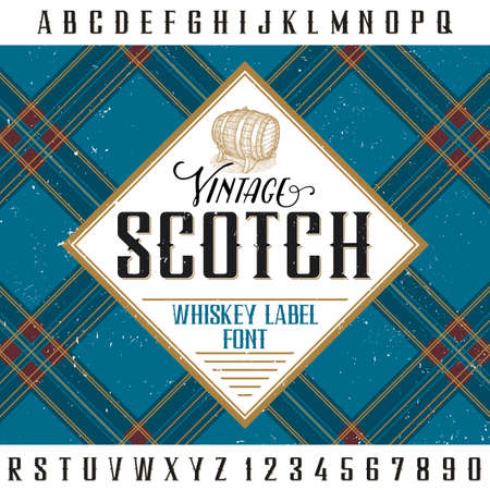 scotch: Vintage scotch poster for design and decoration of alcohol drinks