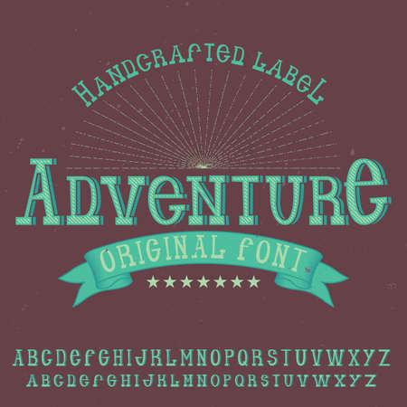 ビンテージ ラベル書体という冒険。任意の型のラベルやロゴを使用する良いフォントです。