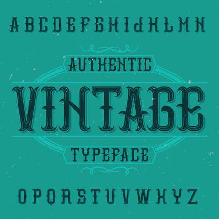 ビンテージ ラベルの書体では、ヴィンテージという名前。任意の型のラベルやロゴを使用する良いフォントです。