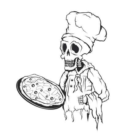 Isolated illustration of dead chef Illustration