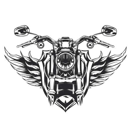 Illustration of classic motorcycle.