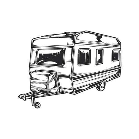 Illustration of house on the wheels Illustration