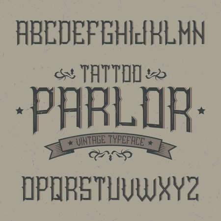 Vintage Label Typeface Named Tattoo Parlor Good Font To Use