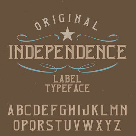Vintage label typeface named Independence. Good font to use in any vintage labels or logo.