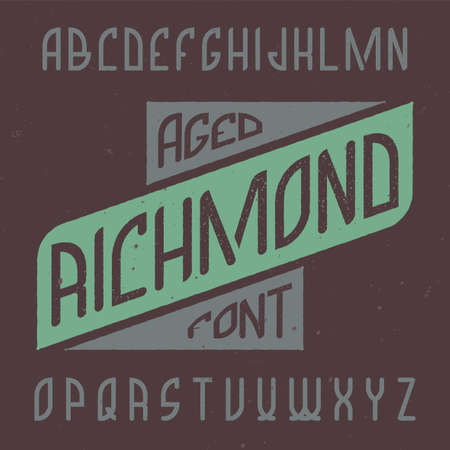 Vintage label typeface named Richmond. Good font to use in any vintage labels or logo.  イラスト・ベクター素材
