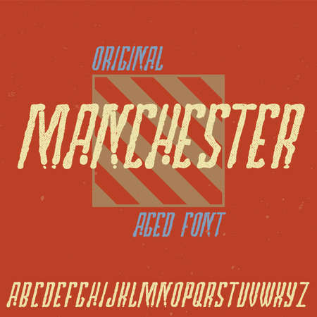 Vintage label typeface named Manchester. Good font to use in any vintage labels or logo.
