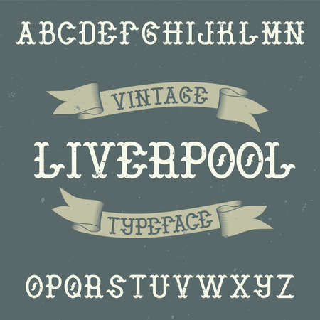 Vintage label typeface named Liverpool. Good font to use in any vintage labels or logo.