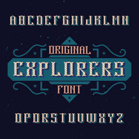 Vintage label font named Explorers. Good to use in any creative labels.