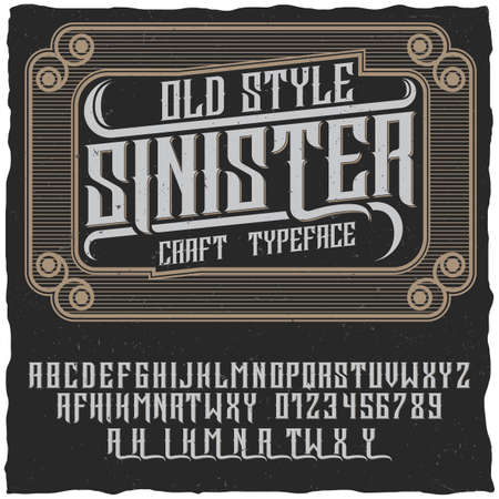 Old style sinister poster using in any vintage style labels of alcohol drinks vector illustration