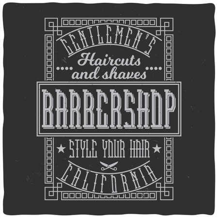 Vintage label design with lettering composition on dark background. T-shirt design. Ilustração
