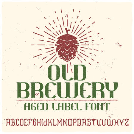 Vintage label typeface called Old Brewery. Perfectly designed font for any design.