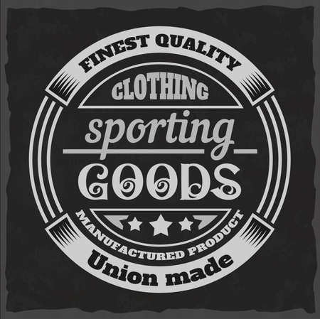 Vintage print for t-shirt or apparel. Retro artwork in black and white for fashion and printing. Old school vector with traditional theme and typography. Vintage noise are easily removable. Illustration