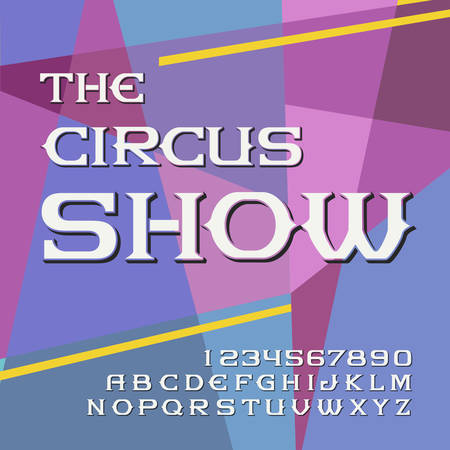 Original label typeface named The circus show. Good handcrafted font for any label design. 일러스트