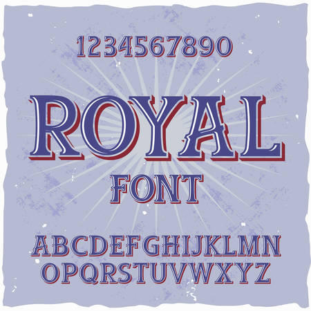 Original label typeface named Royal. Good handcrafted font for any label design.