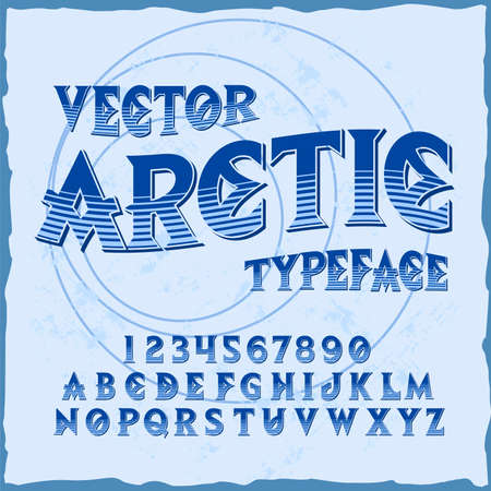 Original label typeface named Arctic. Good handcrafted font for any label design.