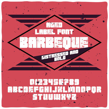 Vintage label typeface named BBQ. Good handcrafted font for any label design.
